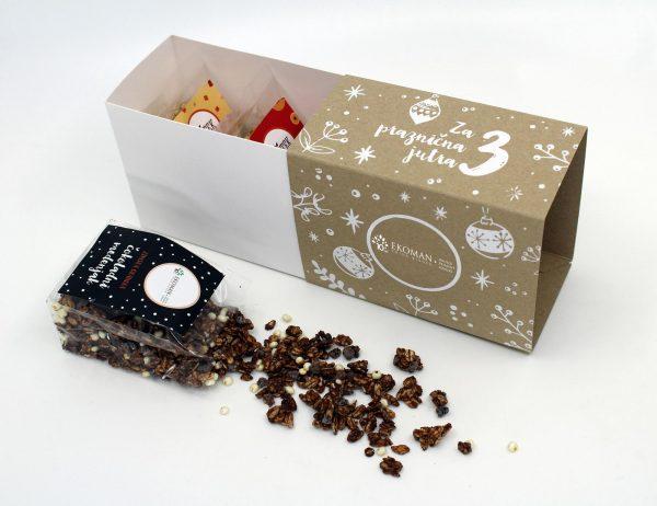 Ekoman Darilni paket 3 ročno izdelane granole