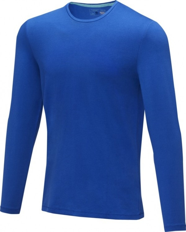 Majice Moška majica z dolgimi rokavi iz recikliranega organskega materiala