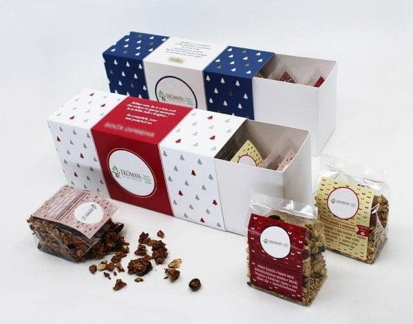 Ekoman Darilni paket 5 ročno izdelane granole