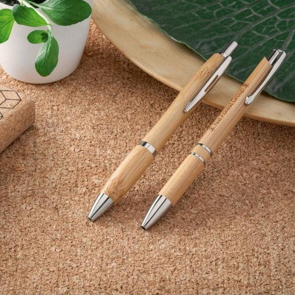 Pisala Pisalo iz bambusa z zaponko, črna minca