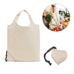 All products ORLEANS. 100% cotton foldable bag