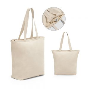 All products HACKNEY. 100% cotton bag with zipper