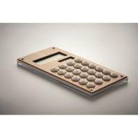 Namizje Kalkulator iz bambusa, 8-številčni