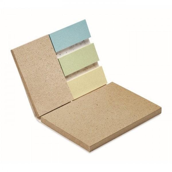 Notesi Blok s semeni trave in barvnimi listki