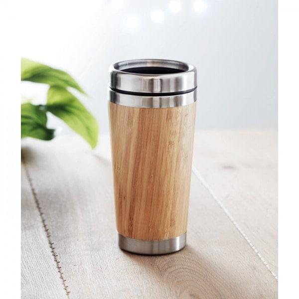 Skodelice Potovalna skodelica iz bambusa – dvojni zid