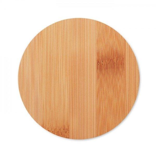 Skodelice Lonček iz borosilikatnega stekla in bambusovim pokrovčkom, 250 ml