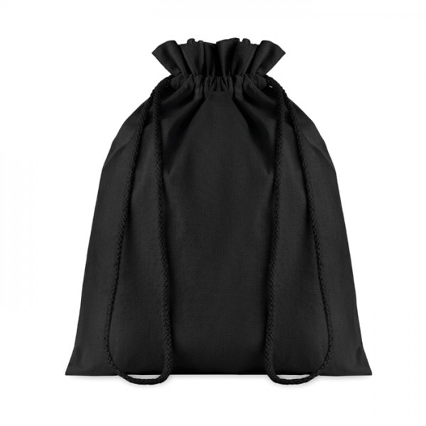 Bombaž Bombažna vrečka na zatezno vrvico – M črna