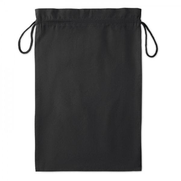 Bombaž Bombažna vrečka na zatezno vrvico – L črna