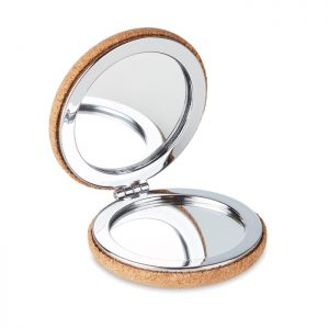 Accessories Pocket mirror with cork cover