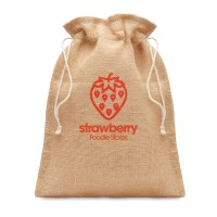 All products Small jute gift bag 14 x 22 cm