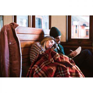 Travels & Excursions RPET fleece travel blanket