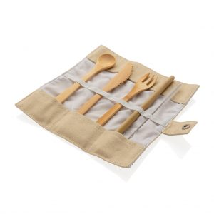 All products Reusable bamboo travel cutlery set