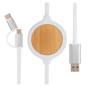 Mobilni pripomočki 3 v 1 brezžični polnilec – bambus