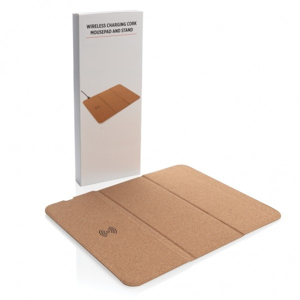 All products 5W wireless charging cork mousepad and stand