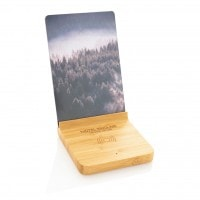 All products Bamboo 5W wireless charger with photo frame