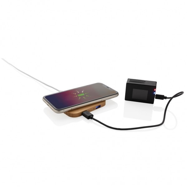 All products Bamboo 5W wireless charger with USB ports