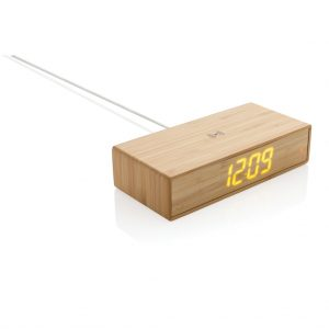 All products Bamboo alarm clock with 5W wireless charger
