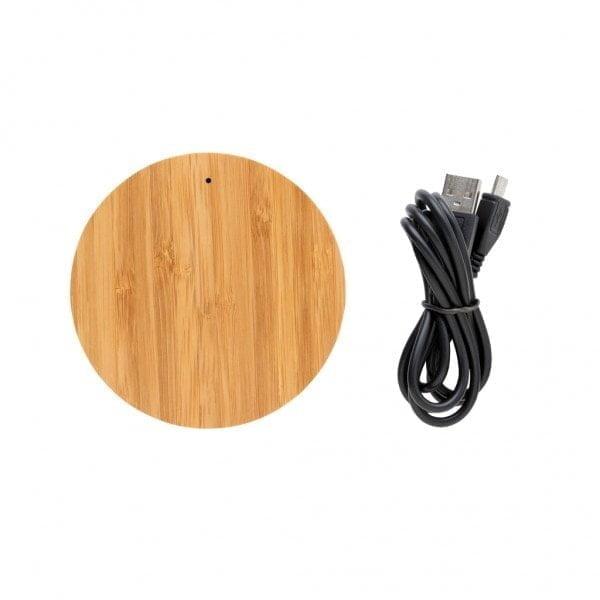 Brezžični in prenosni polnilci Bambusov brezžični polnilec