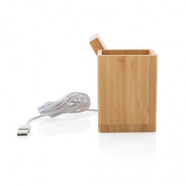 Brezžični in prenosni polnilci Brezžično polnilno stojalo za svinčnike iz bambusa