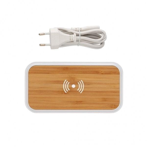 Brezžični in prenosni polnilci Brezžični bambusov polnilec z USB vhodi