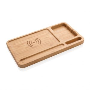 All products Bamboo desk organiser 5W wireless charger