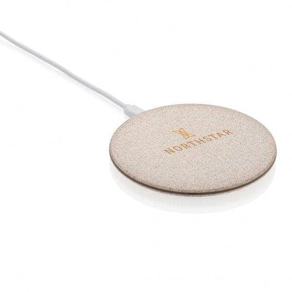 Brezžični in prenosni polnilci 5W brezžično polnilec iz pšeničnih vlaken
