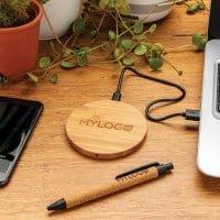 Brezžični in prenosni polnilci 5W brezžično polnilec iz bambusa