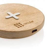 Brezžični in prenosni polnilci 5W brezžični polnilec iz lesa