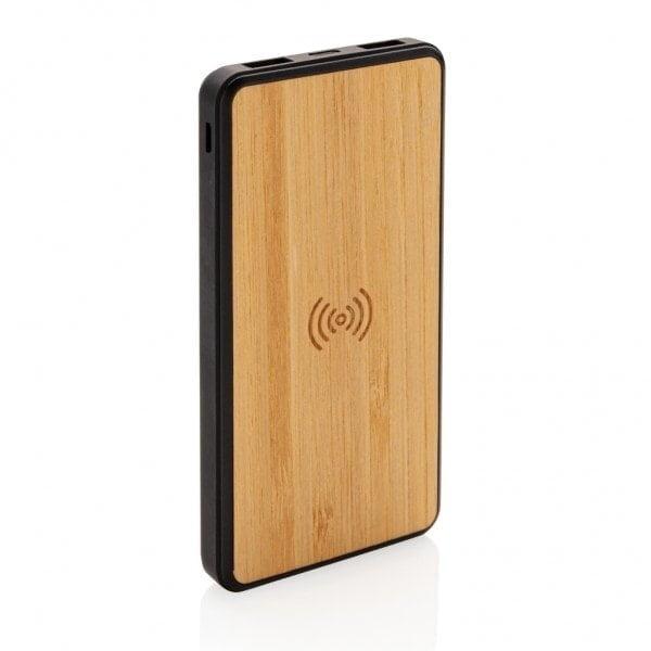 Brezžični in prenosni polnilci Bambusov brezžični 8000 mAh modni prenosni polnilec