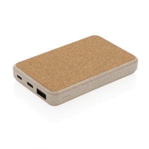 All products Cork and Wheat 5.000 mAh pocket powerbank