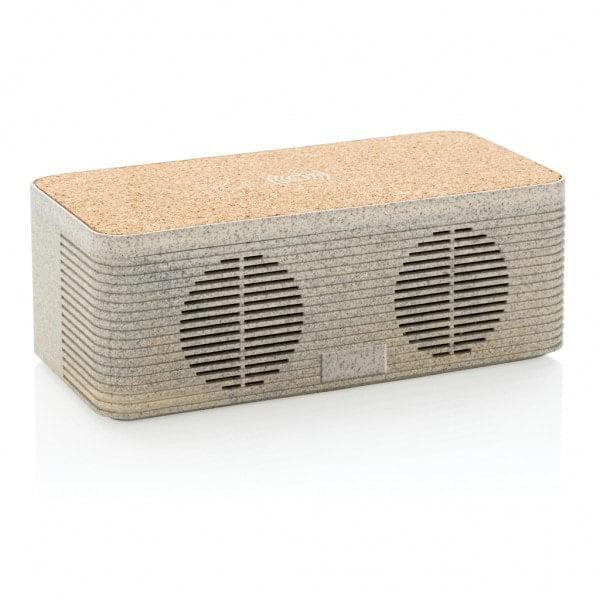Brezžični in prenosni polnilci Brezžični zvočnik in polnilec ob enem iz pšeničnih vlaken