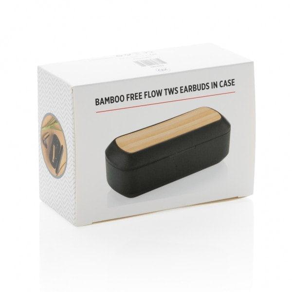 Naglavne in ušesne slušalke Ušesne slušalke iz bambusa v škatlici