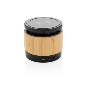 All products Bamboo wireless charger speaker