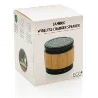 Brezžični in prenosni polnilci Brezžični zvočnik in polnilec iz bambusa
