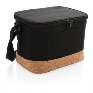 Kitchen Two tone cooler bag with cork detail