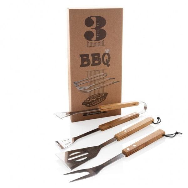 Kitchen 3 pcs bamboo BBQ set