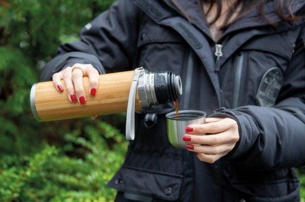 Skodelice Potovalna termovka iz bambusa