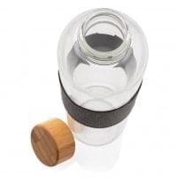 Stekleničke Steklenička iz borosilikatnega stekla z bambusovim pokrovom