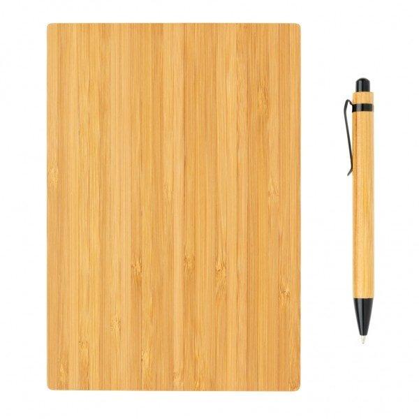 Notesi A5 zvezek iz bambusa s pisalom