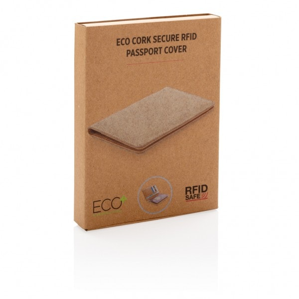 Denarnice in hranilniki Ovitek za potni list iz plute z RFID zaščito