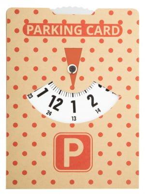 Car material CreaPark Eco parking card