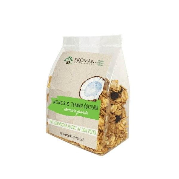 Granola Ročno izdelana granola – kokos in temna čokolada