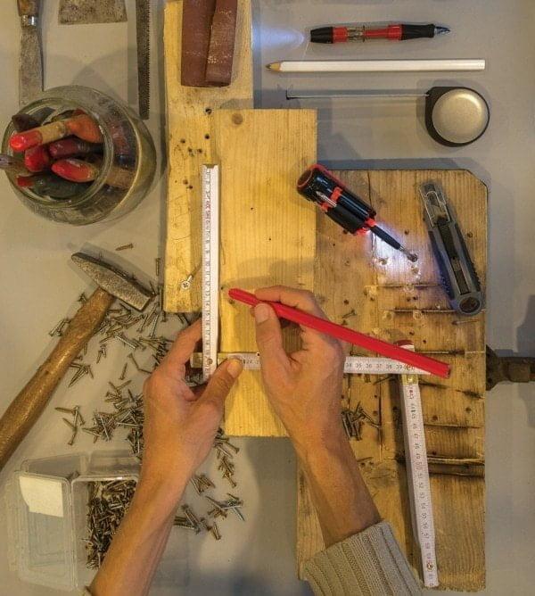 Accessories 25cm wooden carpenter pencil