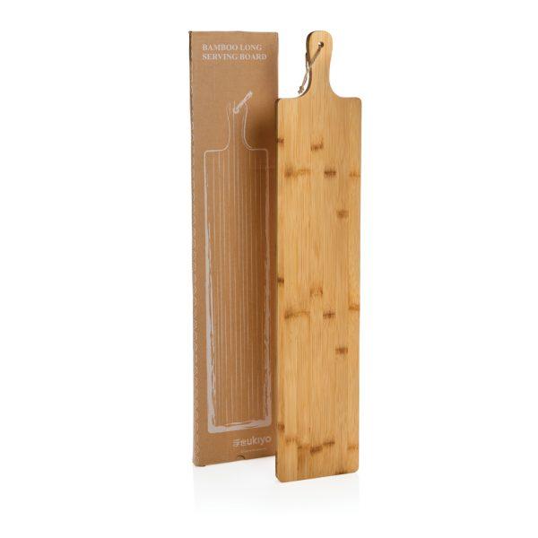 Kuhinja Bambusova dolga servirna deska