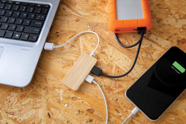 Mobilni pripomočki Bambusov razdelilec za tip C USB