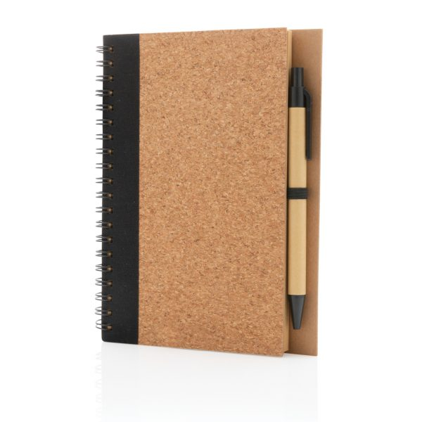 All products Cork spiral notebook with pen