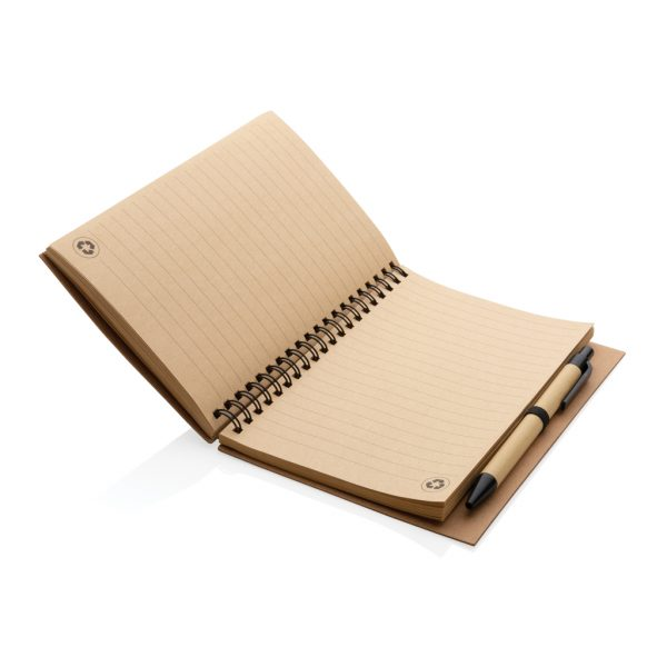 Notesi Zvezek na spiralo s svinčnikom iz plute