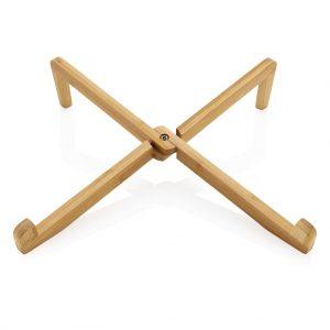 Wood Bamboo portable laptop legs