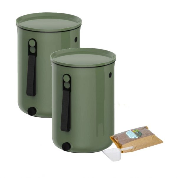 Recycling Bokashi Organko 2 – two bins for composting and waste sorting