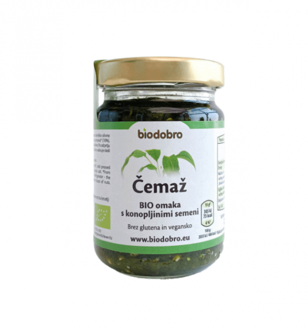 Organic Goodies Wild garlic bio sauce with cannabis seeds